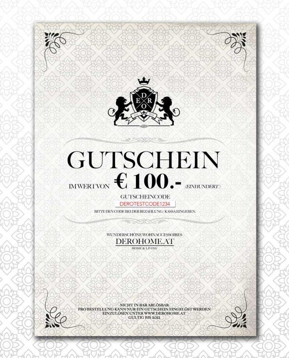 100 gutschein zum ausdrucken derohome at. Black Bedroom Furniture Sets. Home Design Ideas