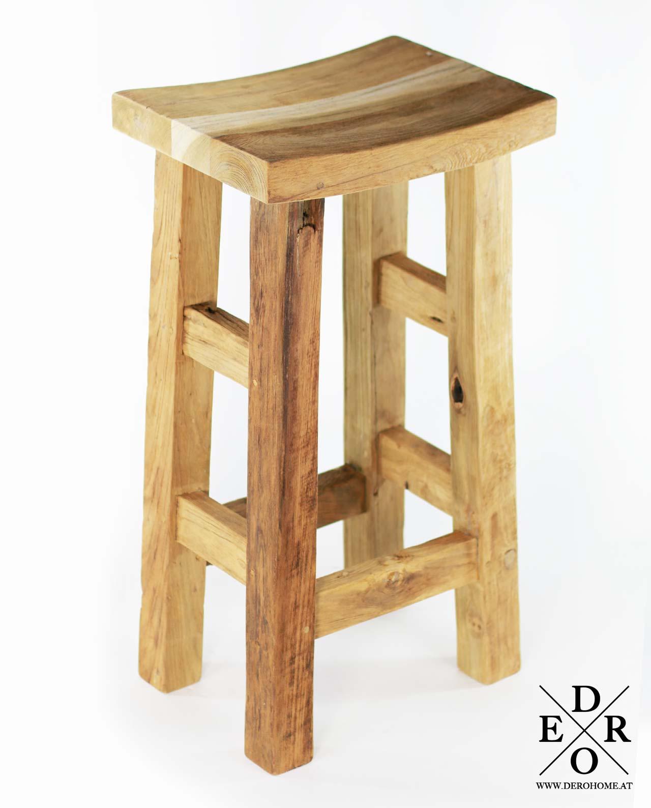 barhocker christan teakholz massiv derohome at. Black Bedroom Furniture Sets. Home Design Ideas