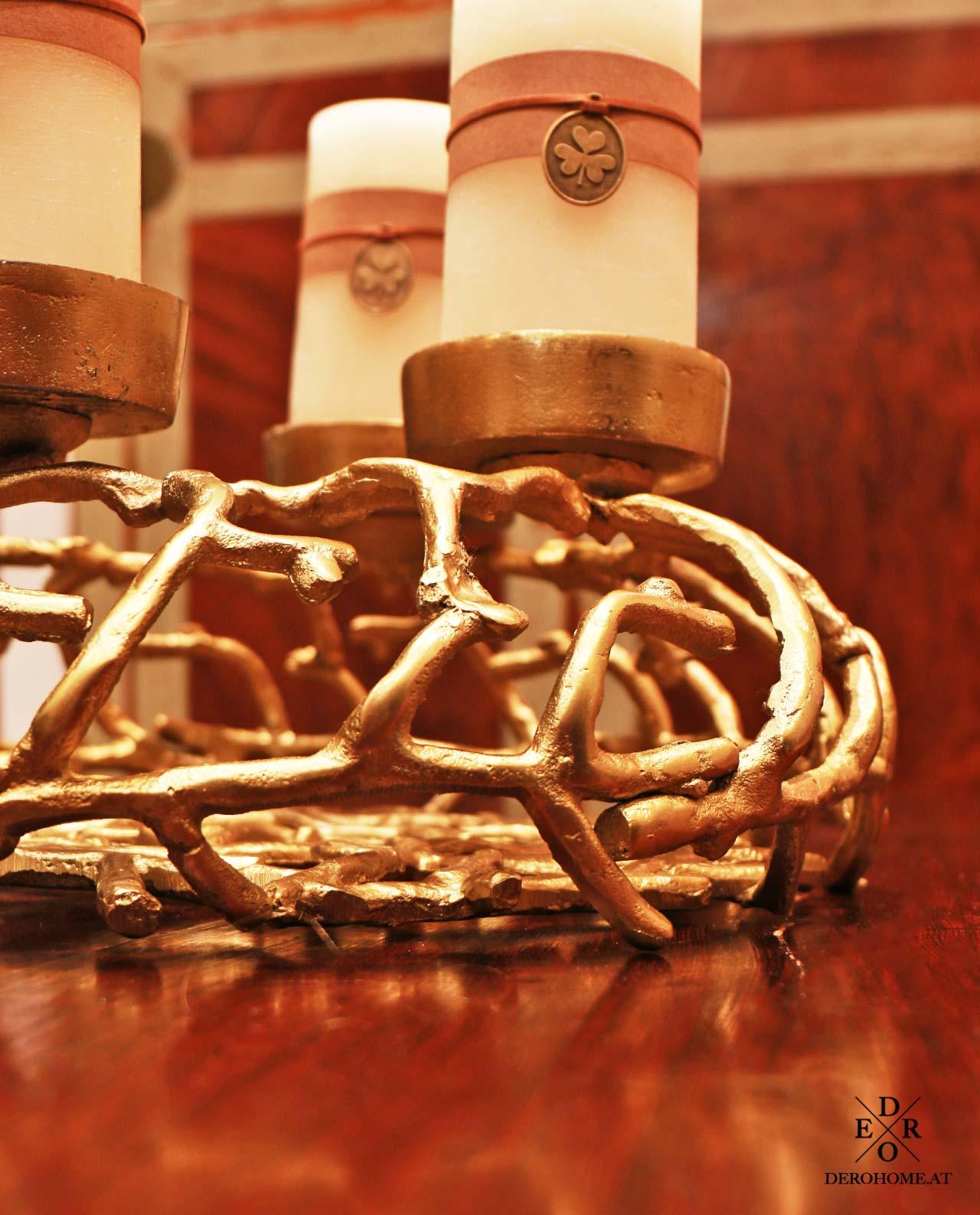 adventskranz noel gold 40 cm derohome at. Black Bedroom Furniture Sets. Home Design Ideas